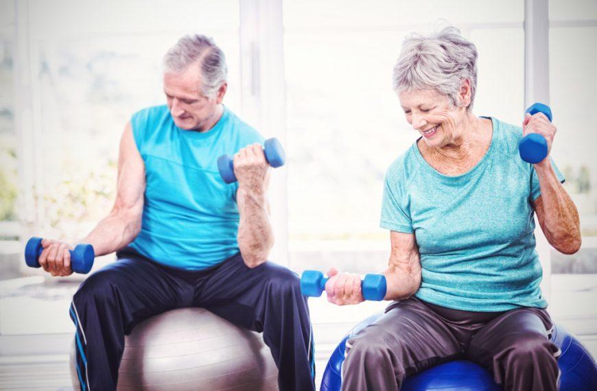senior keeping healthy