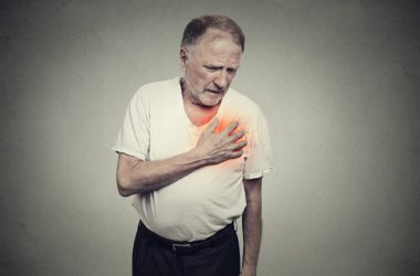 man with aching heart
