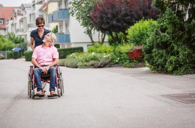 man on the way to senior care
