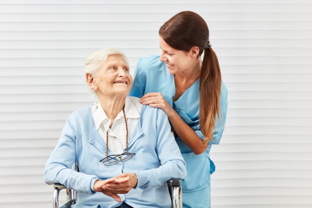 nurse and senior citizen